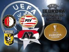 Dit zijn de mogelijke tegenstanders van PSV, AZ, Feyenoord en Vitesse in Europa