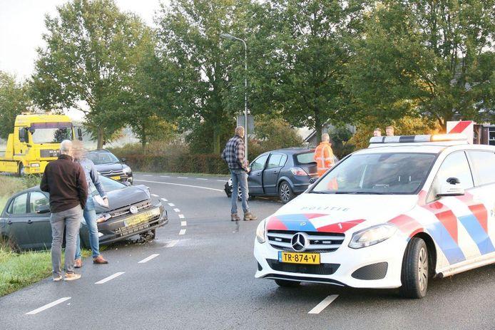 Beide auto's zijn total loss door het ongeval.