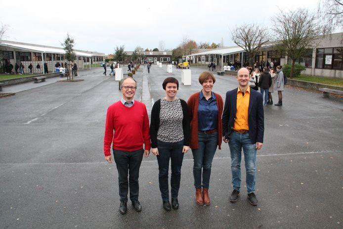 Het directieteam van 't Saam, met Bart Laleman, Sofie Desamps, Isabelle De Keyser en Tommy Es.