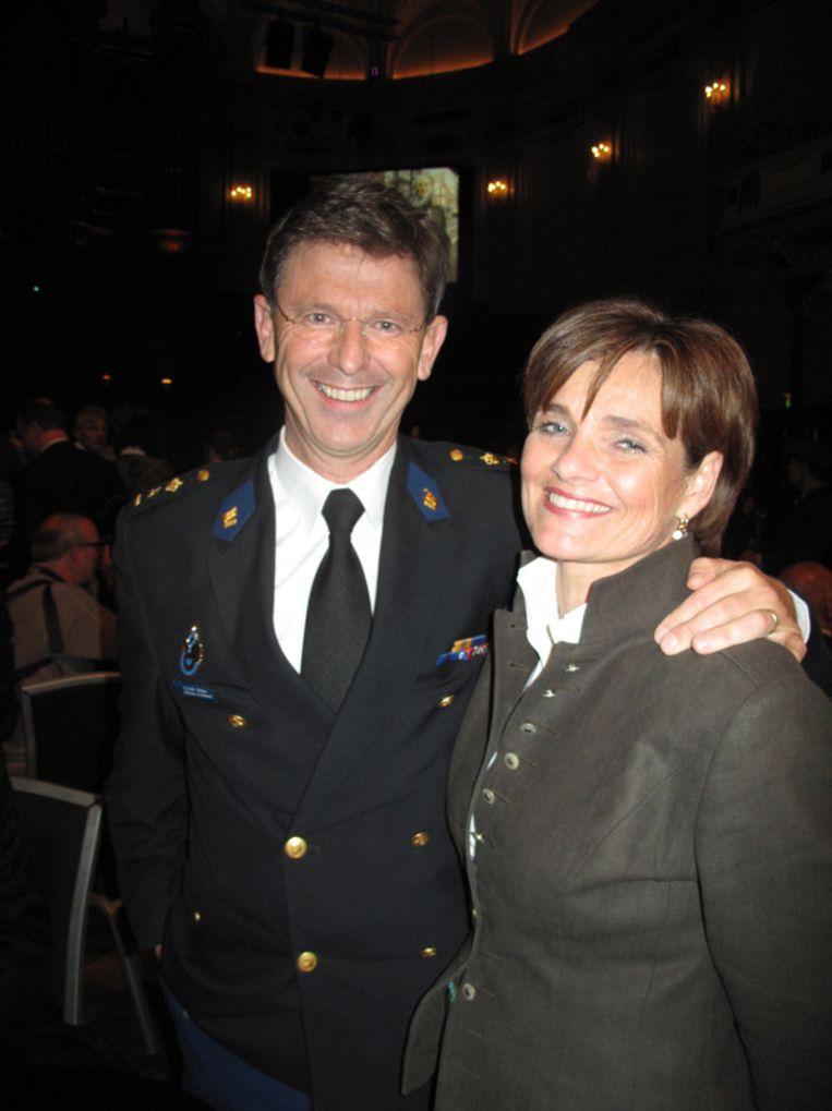 De lawaaierige kracht: korpschef Bernard Welten (met zijn vrouw Tessy). Beeld null