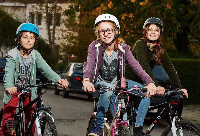 À travers cette initiative, les enfants qui se rendent à vélo à l'école sont récompensés par de l'argent virtuel, doublé par mauvais temps, à dépenser dans les commerces locaux partenaires (photo d'archives).