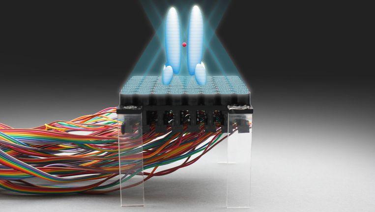 Apparaat dat een akoestische hologram kan maken. Beeld Nature Communications
