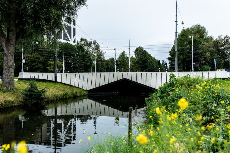 De Corry Tendeloobrug in Nieuw-West. Beeld Nosh Neneh