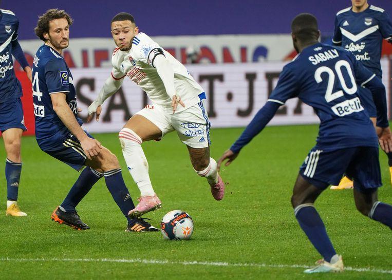 Sinds zijn komst naar Frankrijk is Depay, met 54 goals en 38 assists, de speler die na Mbappé (121) bij de meeste competitiedoelpunten betrokken is geweest.  Beeld AP