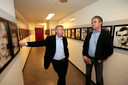 PSV-helden uit de jaren zeventig in deze eeuw nog even bij elkaar in de catacomben van het Philips Stadion: Willy van der Kuijlen en Ralf Edström.