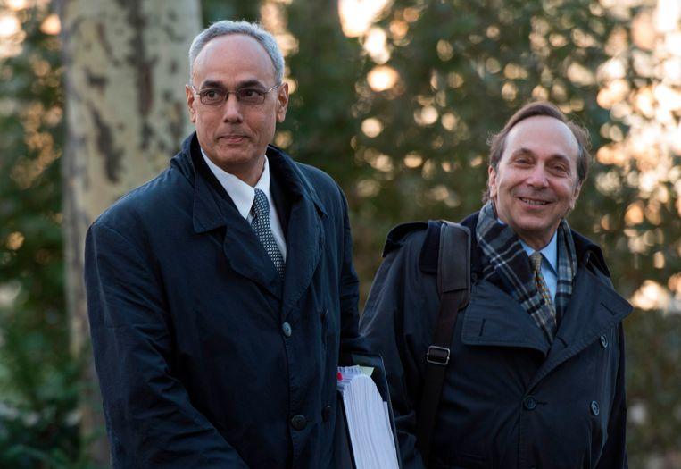 Manuel Burga(l.) is een van de drie beklaagden. Beeld AFP