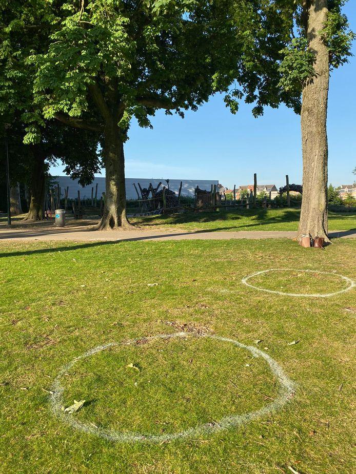 Bubbels in het Hanssenspark.