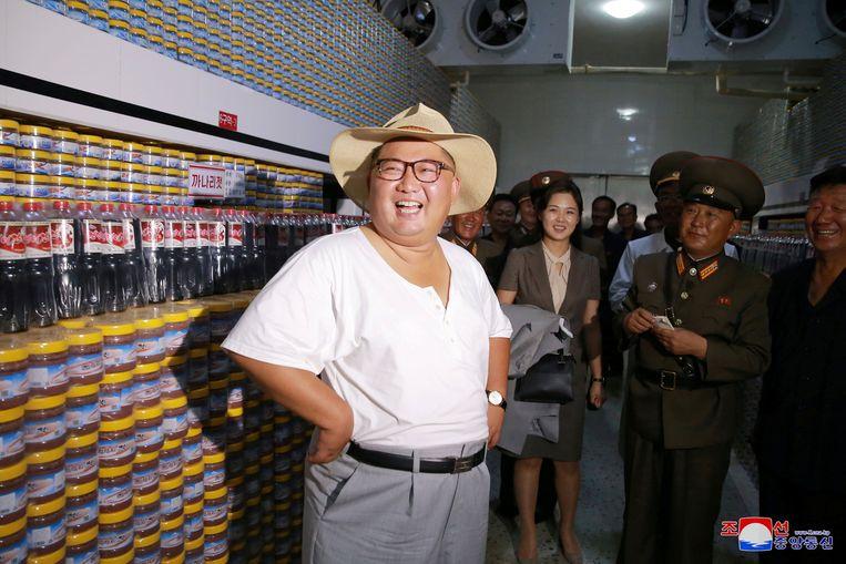 Kim Jong-un verscheen in erg losse kledij.