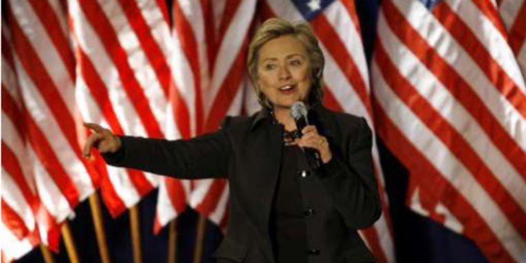 Hillary Clinton behaalde de overwinning in Florida.