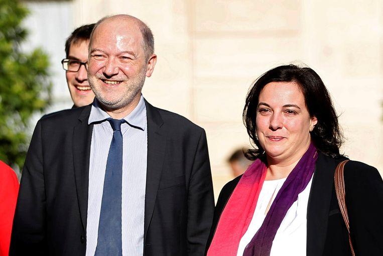 Denis Baupin en zijn echtgenote Emmanuelle Cosse. Beeld REUTERS