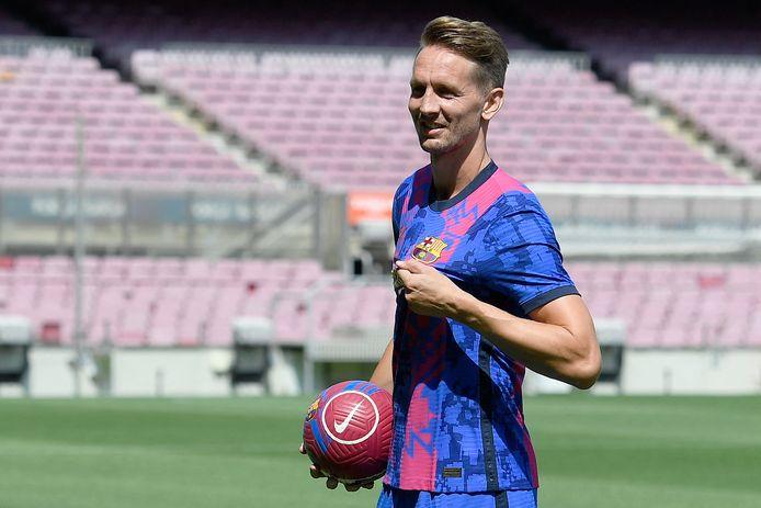 Luuk de Jong is tegenwoordig de diepte spits van FC Barcelona.