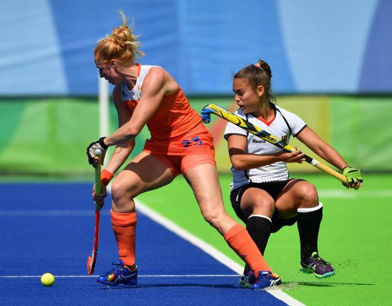 Nederland in halve finale tegen Duitsland Beeld AFP