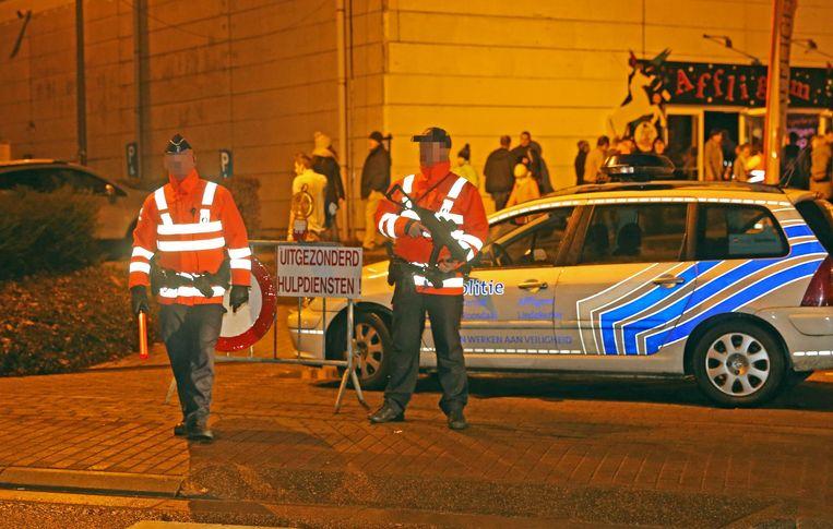 Het terreurniveau staat nog altijd op 'drie', dus dat betekende opnieuw agenten met machinepistolen.