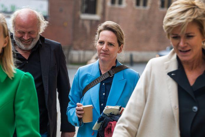 Maaike Cafmeyer is een van de negen vrouwen die zich burgerlijke partij stelden.