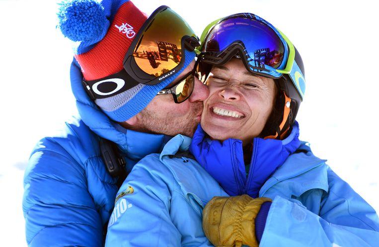 Bibian Mentel met haar man Edwin Spee. Beeld Mathilde Dusol