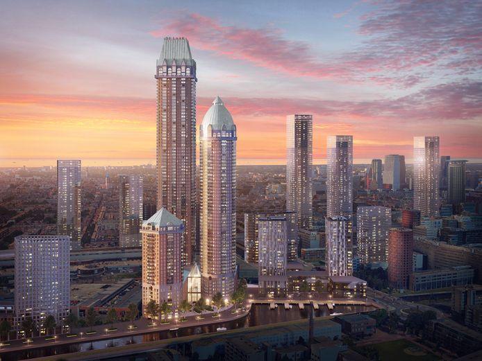Industriegebied Laakhavens wordt een hoogbouw-wijk. Op de drie woontorens van bouwproject De Laak.