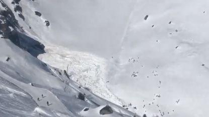 VIDEO. Lawine in Zwitserland sleurt verscheidene mensen mee