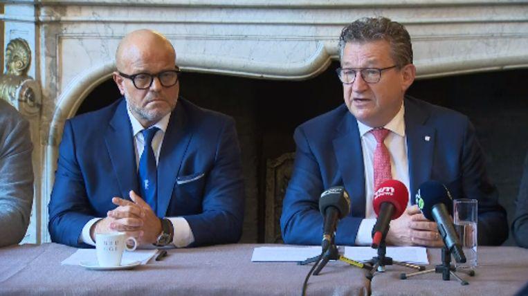 Bart Verhaeghe en Dirk De fauw, de burgemeester van Brugge.