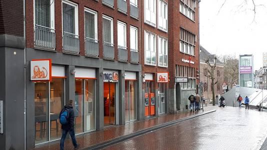 De voormalige bankwinkel van ING aan de Mariënburg in Nijmegen.