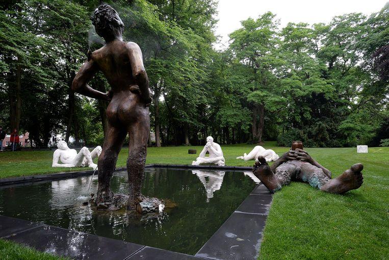 Schets voor een fontein in Münster, Duitsland. Beeld Hollandse Hoogte / EPA