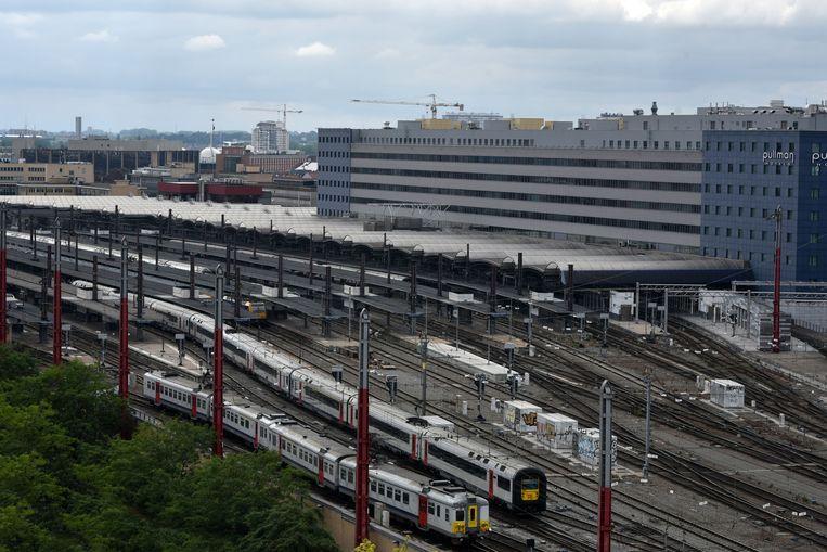 Het Brusselse Zuidstation. Beeld Dieter Nijs