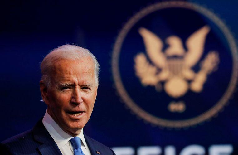 De Democraten scheppen moed uit de overwinning van Joe Biden in hun staat. Beeld REUTERS