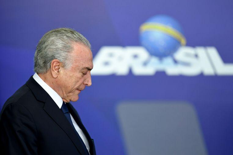 De Braziliaanse oud-president Michel Temer. Beeld AFP