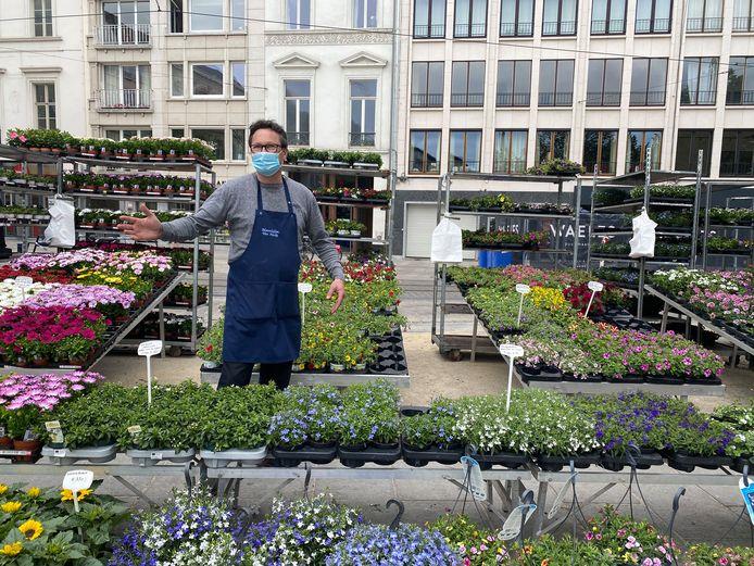 De bloemenmarkt op de Kouter.