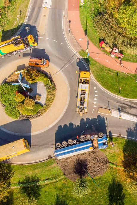 Gevaar lekkende vrachtwagen Woerden geweken