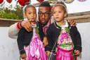 Jerome Boateng met dochters Soley en Lamia.