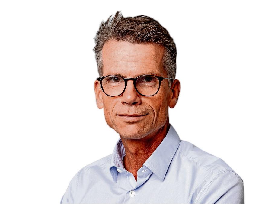 Portret van Hans Nijenhuis, hoofdredacteur van het AD, Algemeen Dagblad. Foto Joost Hoving