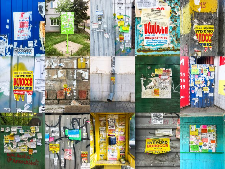 Straatadvertenties in Oekraïne om haar op te kopen. Beeld Tom Skipp