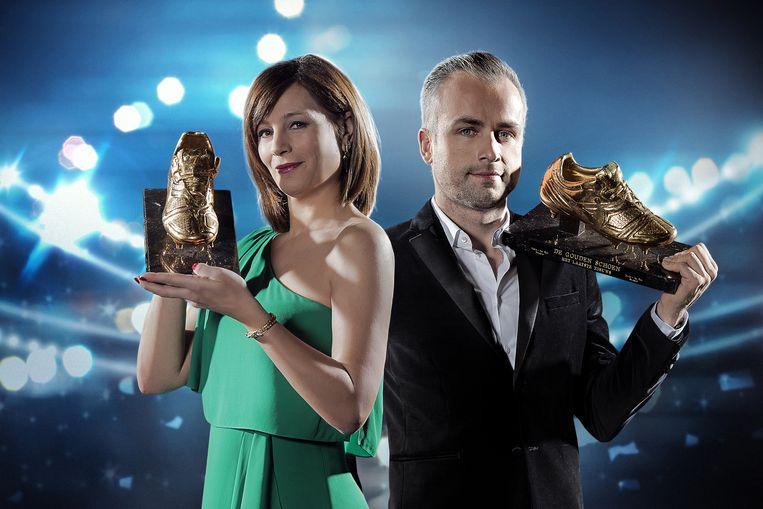 Vorig jaar werd de Gouden Schoen gepresenteerd door Birgit Van Mol en Maarten Breckx.
