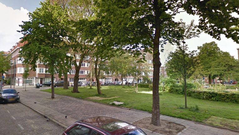 De verdachte hing die middag met vrienden rond op het Afrikanerplein. Beeld Google Streetview