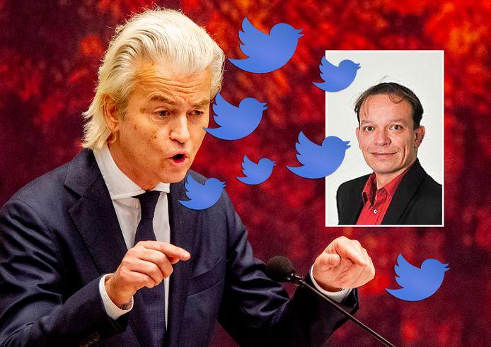 De secretaris van de SP Dordrecht, Paul Baars (inzet), had via Twitter een stevige woordenwisseling over Geert Wilders. Het kwam hem online op bakken kritiek te staan.