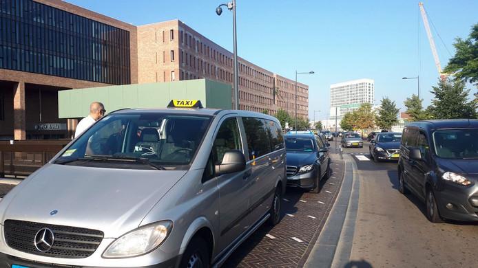 Taxichauffeurs in Breda.