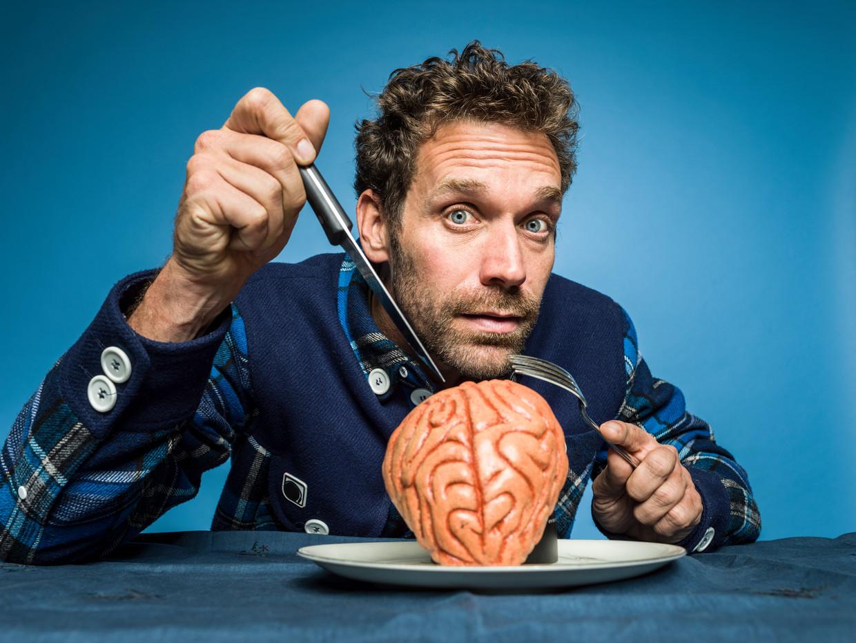 Vanavond op Canvas: Brain Man met Otto-Jan Ham. Beeld Johan Jacobs / Humo / 2019