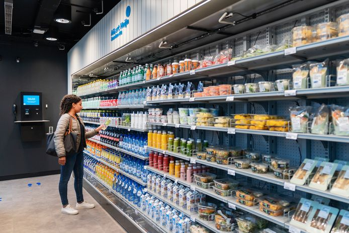 Albert Heijn deed eerder een proef met een robotsupermarkt voor werknemers.