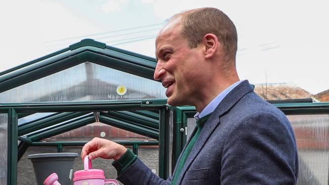 """Prins William heeft geen verstand van tuinieren: """"Ik krijg les van m'n vrouw Kate"""""""
