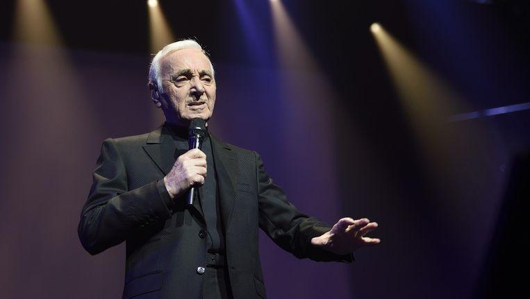 Charles Aznavour, de Frans-Armeense chansonnier, komt naar Amsterdam Beeld Eric Feferberg