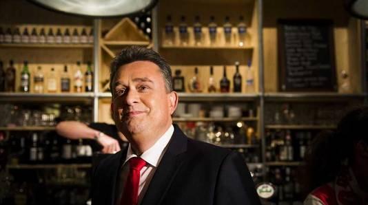 SP-leider Emile Roemer wacht in een cafe in Utrecht de uitslagen van de verkiezingen af.