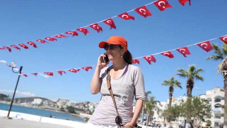 Columniste Ebru Umar is vrij, maar mag Turkije nog niet uit Beeld ANP