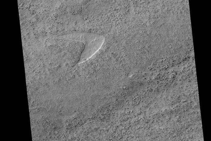 Une dune ressemblant étrangement à un logo Star Trek a été repéré sur Mars.