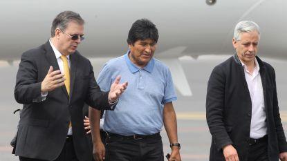 Morales zegt bij aankomst in Mexico strijd te zullen verderzetten
