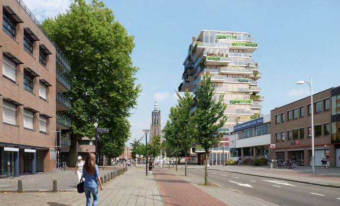 The Spot, gezien vanaf de Utrechtseweg.