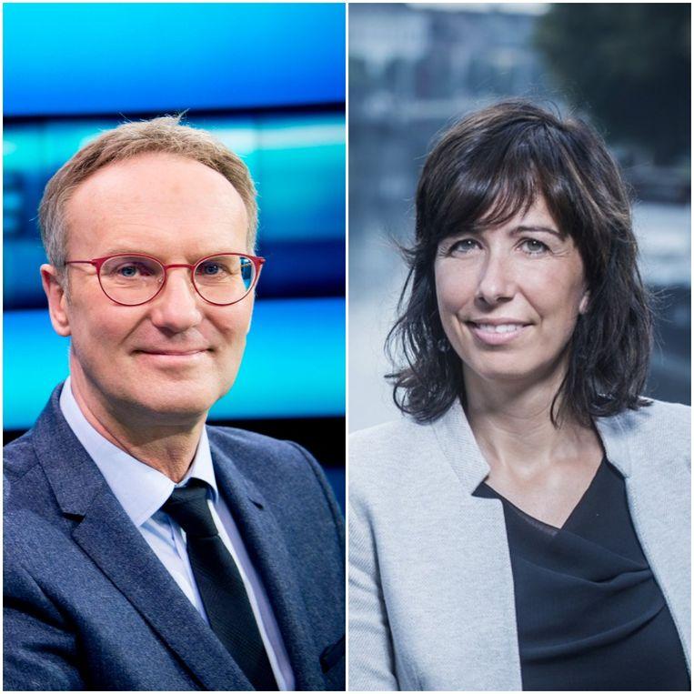 Lieven Verstraete en Lisbeth Imbo presenteren vanaf september 'De 7de dag'.  Beeld Rv