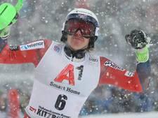 Kristoffersen verslaat grote rivaal Hirscher op slalom