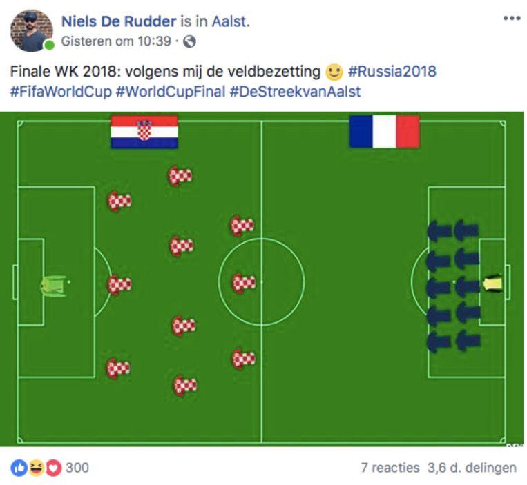Zo gaan de Fransen spelen volgens Niels De Rudder.