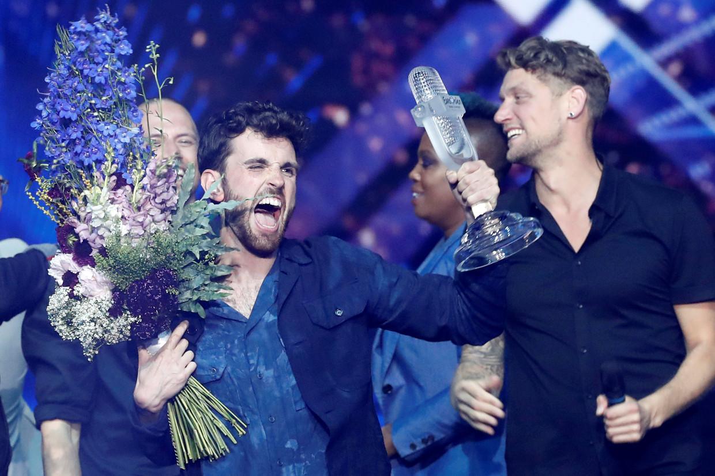 De Nederlander Duncan Laurence won met nummer 'Arcade' het 64e Eurosongfestival in Tel Aviv. Beeld REUTERS
