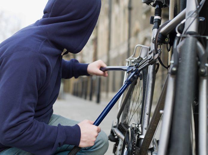 Een koersfiets, mountainbike en elektrische fiets werden gepikt.